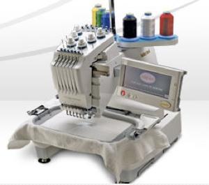 Single head multi-needle machine